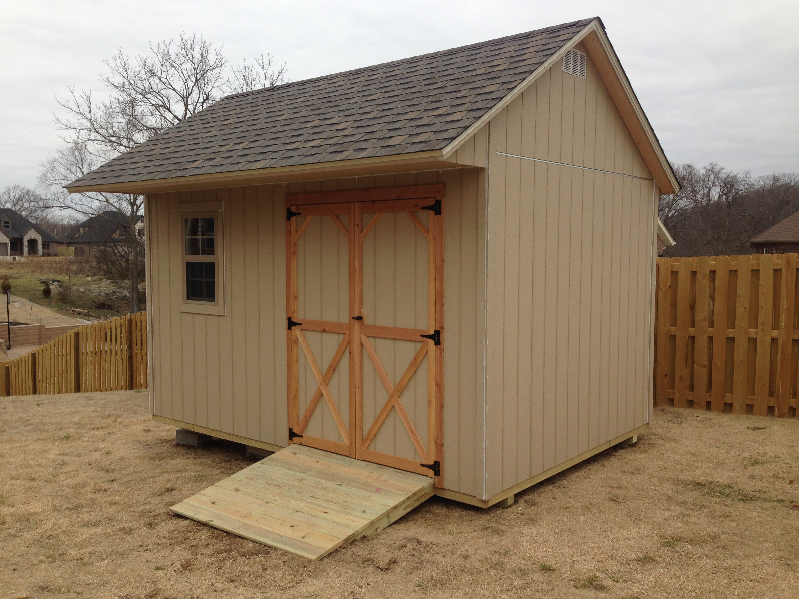 Gable Roof Storage Sheds Built On Site